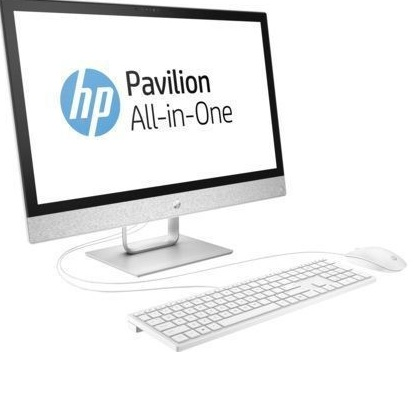 "HP Pavilion 24A 24-r033ur (2MJ41EA) (23.8""(1920x1080), Touch, AMD A12 9730P(2.8Ghz), 12288Mb, 1000Gb, DVDrw, Int:UMA AMD Graphics, Cam, BT, WiFi, war 1y, 7.8kg, blizzard white, W10 + USB KBD, USB MOUSE)"