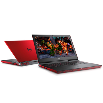"Dell Inspiron 7567 (7567-8920) Core i5 7300HQ, 8Gb, 1Tb, 8Gb SSD, GeForce GTX 1050 4Gb, 15.6"" FHD, Linux, red, WiFi, BT, Cam"