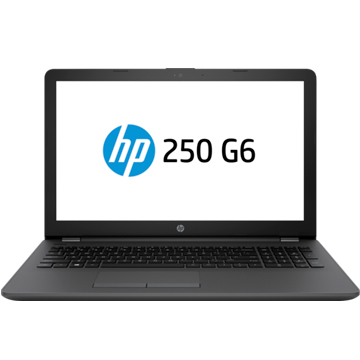 "HP 250 G6 (2SX52EA) Celeron N3350, 4Gb, 500Gb, DVD-RW, Intel HD Graphics 500, 15.6"" SVA HD (1366x768), Windows 10 Home, dk.silver, WiFi, BT, Cam"