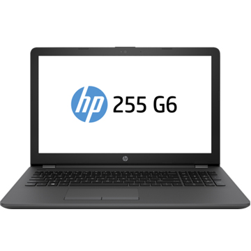 "HP 255 G6 (1WY10EA) E2 9000e, 4Gb, 500Gb, DVD-RW, 15.6"" SVA HD (1366x768), Free DOS 2.0, black, WiFi, BT, Cam"
