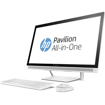 "HP Pavilion 24-b237ur (1AW92EA) 23.8""(1920x1080), Intel Core i3 7100T(3.4Ghz), 4096Mb, 1000Gb, DVDrw, Ext:nVidia GeForce GT930MX(2048Mb), Cam, BT, WiFi, war 1y, 8.47kg, blizzard white, W10 + USB KBD, USB MOUSE"