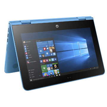 "HP x360 11-ab011ur (1JL48EA) Pentium N3710, 4Gb, 500Gb, Intel HD Graphics, 11.6"" IPS Touch HD (1366x768), Windows 10 64, lt.blue, WiFi, BT, Cam"